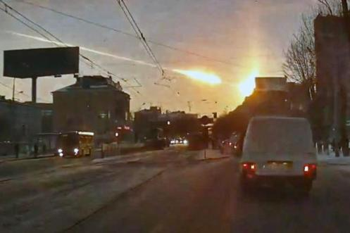 Over 1000 Russians injured during freakish meteor event.  Many other meteors were sighted, world-round during the same week.