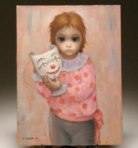 "Margaret Keane's painting titled ""Sad Clown"""
